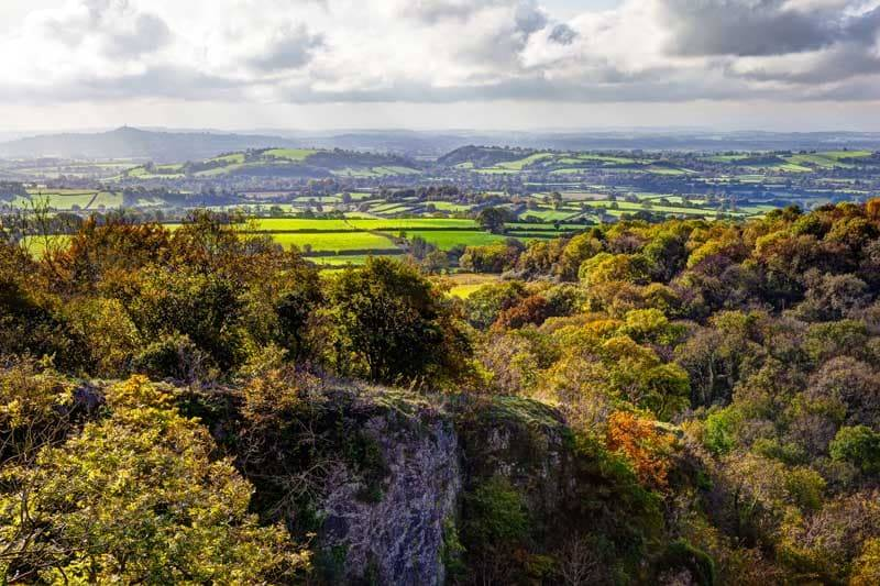 overlooking uk country side